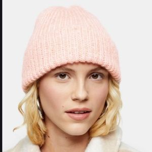 Topshop ribbed beanie pink NWT women
